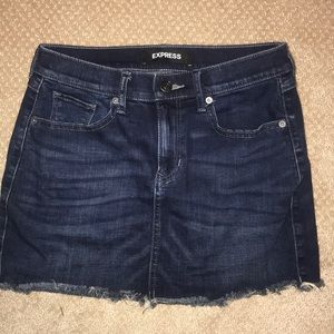 express denim mini Skirt